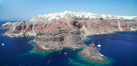 how to get to amoudi bay from fira